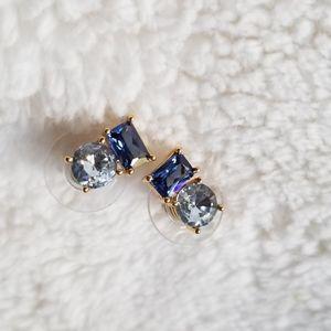 Kate spade stud earrings blue